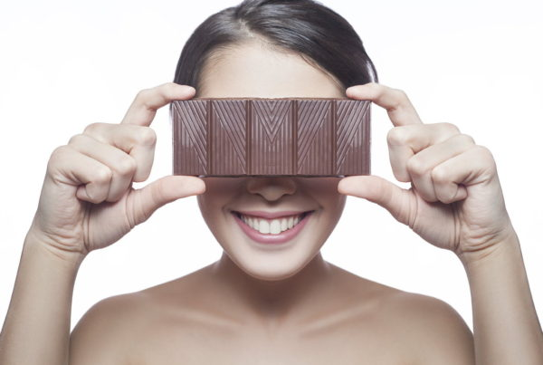 Eat dark chocolate to lift your mood and feed your skin
