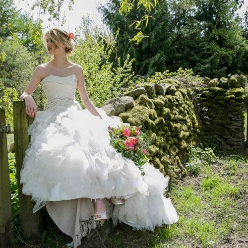 bridal magazine photoshoot cover Wales