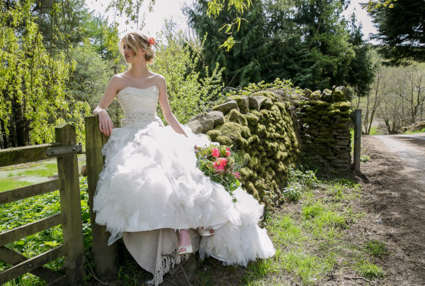 bridal magazine photoshoot cover Wales